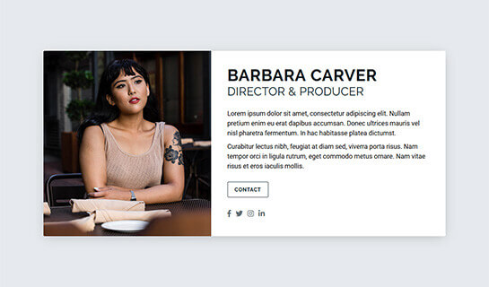 Card website template